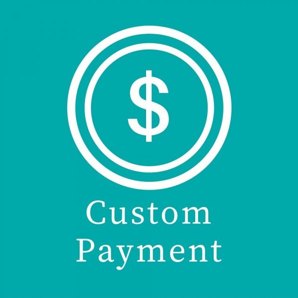 custom payment with dollar sign